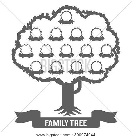 Silhouette Genealogy Family Tree Son Daughter Father Mother Grandfather Grandmother Parent Photo Pic