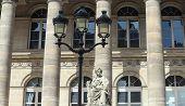 The closeup of Bourse of Paris- Brongniart palace , Paris, France. poster