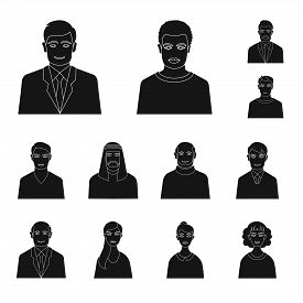 Isolated Object Of Photo And Character  Symbol. Collection Of Photo And Face Vector Icon For Stock.