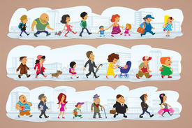 characters on street