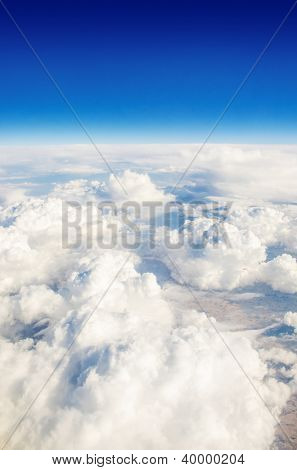 Clouds taken from the airplance