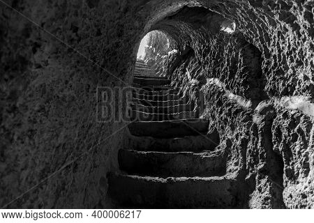 Cave City-monastery Vardzia. Vardzia Is Located In The Erusheti Mountains On The Left Bank Of The Ku
