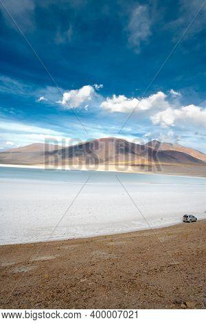 Tuyajto Lagoon And Salt Lake, Altiplano (high Andean Plateau), Atacama Desert, Antofagasta Region, C