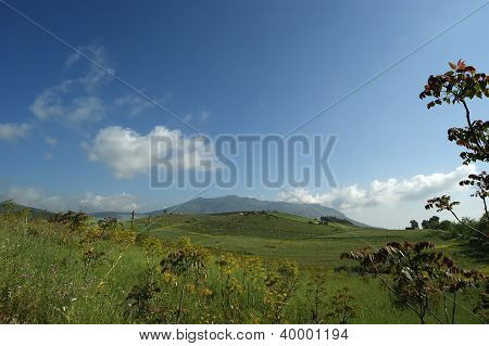 Mountain Valley - Landscape, Island Sicily, Italy