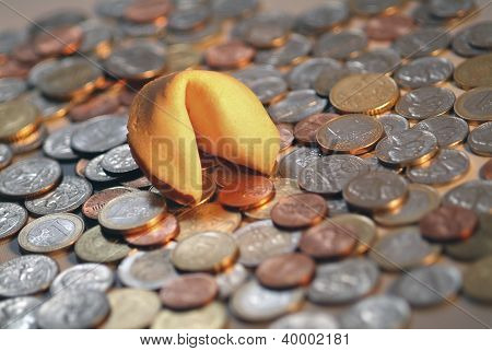Fortune Cookie & Coins