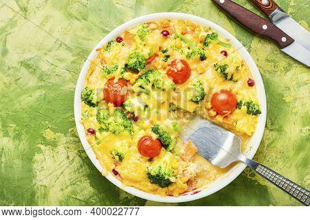 Vegetable Casserole Or Broccoli Omelet
