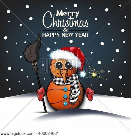 Snowman From Basketball Balls