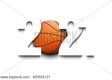 New Year Numbers 2021 And Basketball Ball