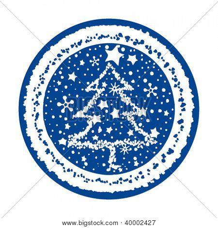 vector illustration of a simple christmas trees
