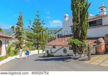 Los Realejos, Tenerife, Canary Islands - June 06, 2018: Popular Tourist Restaurant -  Meson El Monas