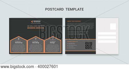 Postcard Template, Corporate Postcard Template, Business Card Postcard