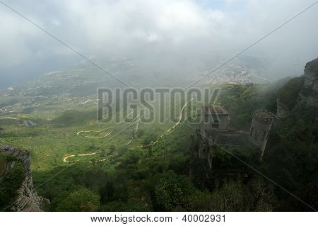 Venus Castle At Erice, Sicily, Italy