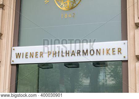 Vienna, Austria - August 30, 2020: Vienna Philharmonic (vpo; German: Wiener Philharmoniker) Sign. Vi