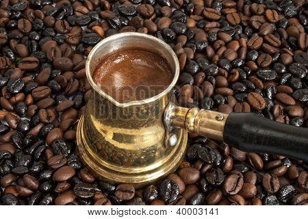Arab Copper Coffee Pot