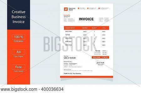 Invoice Design Template.invoice Minimal Design. Bill Form Business Invoice. Business Invoice.money B