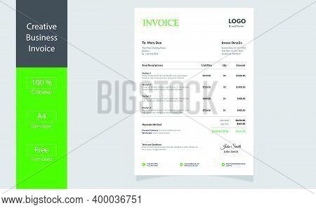 Business Invoice. .invoice Minimal Design Template. Bill Form. Business Invoice.money Bills.price In