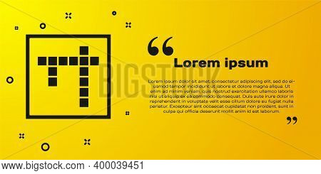 Black Bingo Icon Isolated On Yellow Background. Lottery Tickets For American Bingo Game. Vector