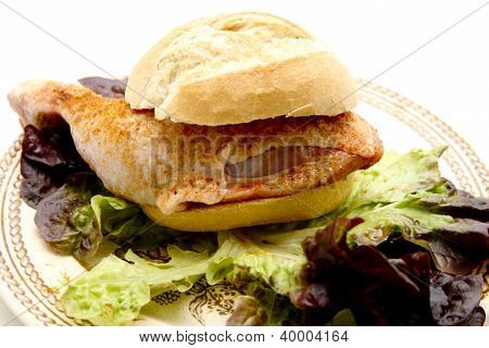 Marinated Chicken Drumstick in Bread roll