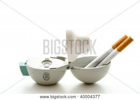 Inhaler with Cigarettes