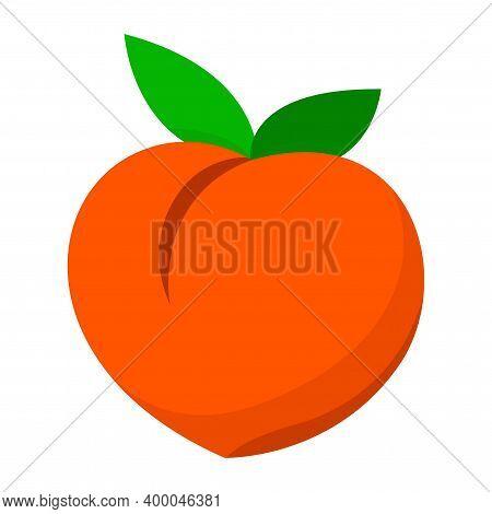 Peach Icon, Peach Emoji Symbol, Clip Art Peach Fruit