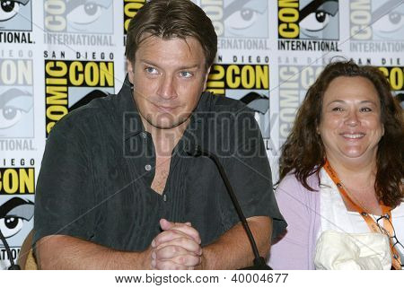 SAN DIEGO, CA - JULY 13: Nathan Fillion attends a press conference  for