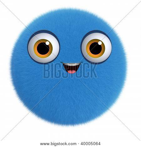 3D Cartoon Cute Furry Ball