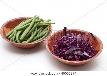 String beans with Red cabbage