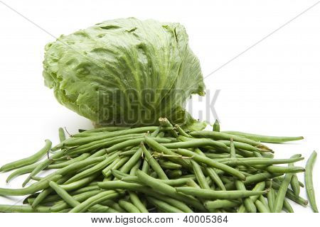 Iceberg Salad with green Beans