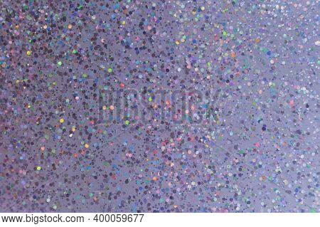 Abstract Purple Background With Glitter Multicolored Sparkles