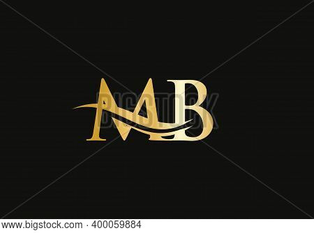 Letter Mb Linked Logo For Business And Company Identity. Creative Letter Mb Logo Vector Template.