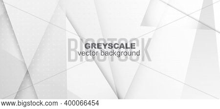 Halftone Minimal Gray Vector Background. Edgy Tile. Halftone