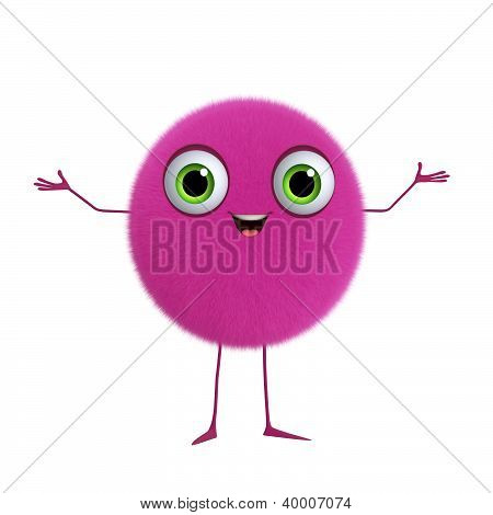 3D Cartoon Cute Pink Ball