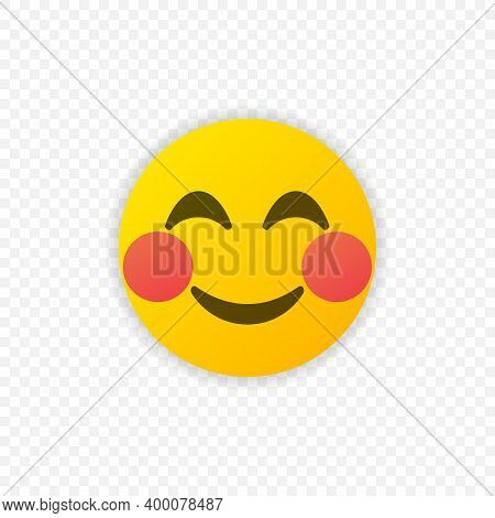 Emoji Shy Face Vector Isolated. Emoticon Shy Face For Web Site, App, Ui And T Shirt. Vector Eps 10
