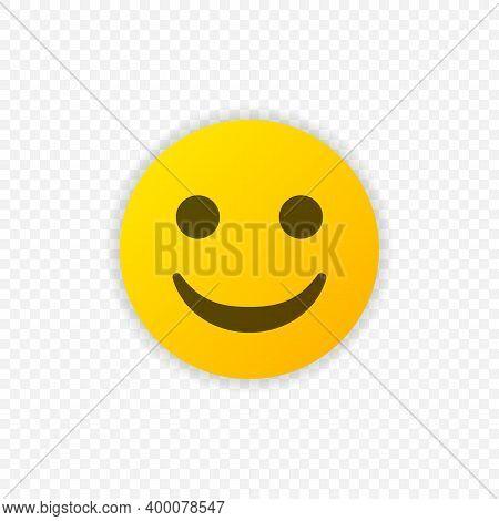 Smile Emoticon Vector Icon. Positive Smiling Emoji Symbol Isolated. Vector Illustration Eps 10