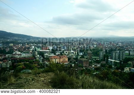 Panorama Ofnorth Mitrovica, The Serbian Part Of The Town, With South Mitrovica In Background, It Is