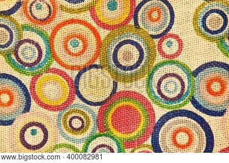 Colorful Textile Woven Linen Fabric, High Quality Jute Fabric Macro Shoot