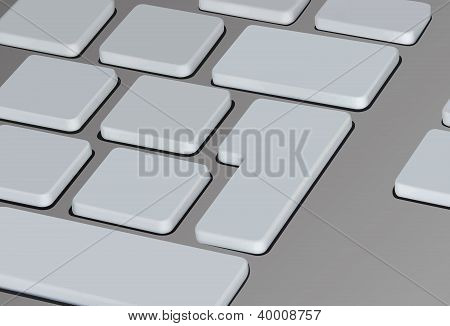vector illustration of keyboard keys