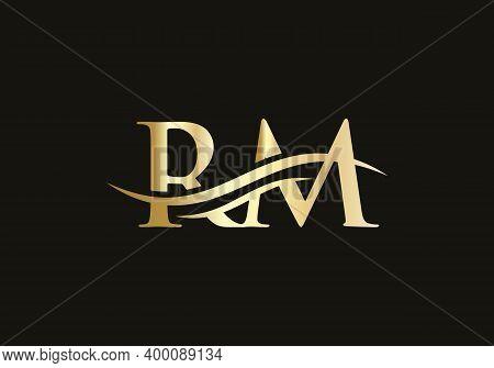 Rm Letter Logo Design. Rm Logo For Luxury Branding. Elegant And Stylish Design For Your Company.