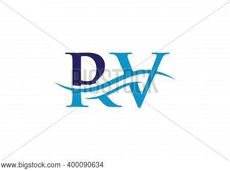 Letter Rv Logo Design For Business And Company Identity. Creative Rv Letter With Luxury Concept.