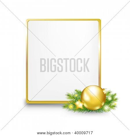 Golden Gift Tag With Gradient Mesh, Vector Illustration