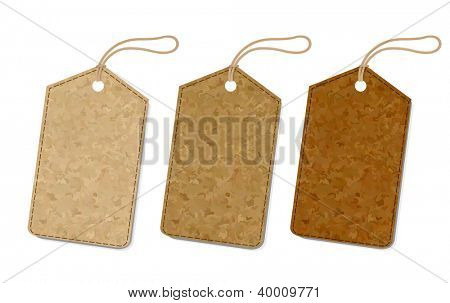 3 Vintage Labels Set Isolated On White Background, With Gradient Mesh, Vector Illustration