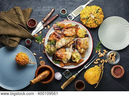 Appetizing Grilled Poultry Meat.