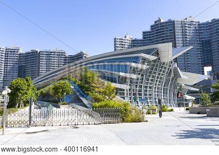 Hong Kong - November 2020: Hong Kong West Kowloon Station, The Terminus Of The Hong Kong Section Of