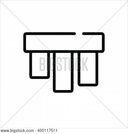 Bottom Alignment Icon Isolated On White Background From Vector Editing Collection. Bottom Alignment