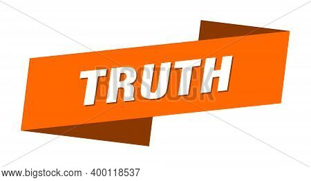 Truth Banner Template. Truth Ribbon Label Sign