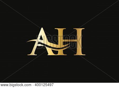 Initial Ah Logo Design. Vector Ah Logo For Business And Company Identity