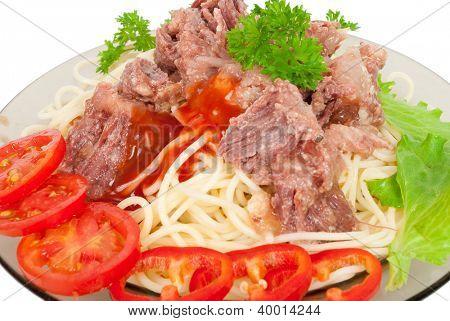 Spaghetti stew