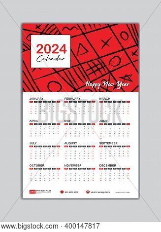 2024 Wall Calendar, Desk Calendar 2024 Template, 2024 Corporate Desk Calendar, 2024 Creative Desk Ca