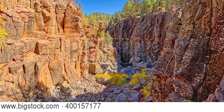 View Of Sycamore Canyon From Sycamore Falls Near Williams Arizona. The Water Falls Are Currently Dry