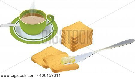 Breakfast With Butter And Jam Rusks Breakfast With Butter And Jam Rusks